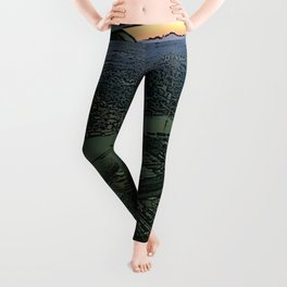 Landing together with the sun Leggings