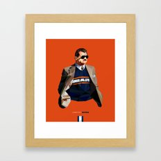 Geometric Ditka Framed Art Print