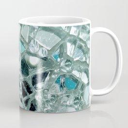 Icy Blue Mirror and Glass Mosaic Coffee Mug