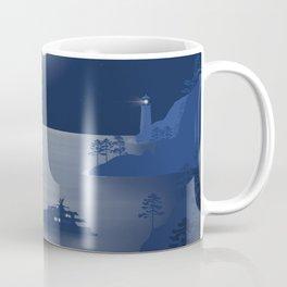 Night in Liguria - Minimal Art Coffee Mug