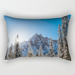 Sunny morning in Val Fiscalina Rectangular Pillow