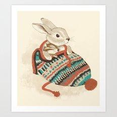 cozy chipmunk Art Print