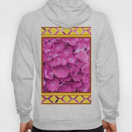 Yellow & Pink Flowers Trellis Art Hoody