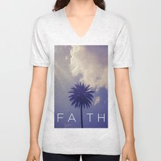 Palm Tree Faith Unisex V-Neck