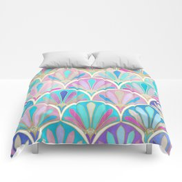 Glamorous Twenties Art Deco Pastel Pattern Comforters