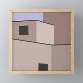 The Desert House Framed Mini Art Print