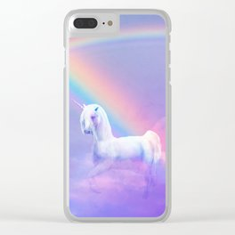 Unicorn and Rainbow Clear iPhone Case
