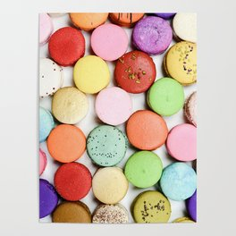 Delicious French Macaroons Poster