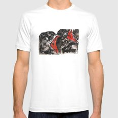 Crow Mouth MEDIUM Mens Fitted Tee White