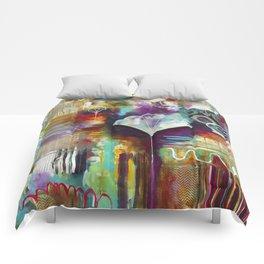 """Spirit Works"" Original Painting by Flora Bowley Comforters"