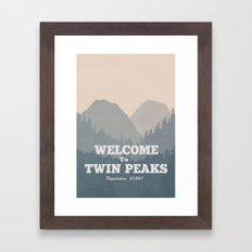 Welcome to Twin Peaks v2 Framed Art Print