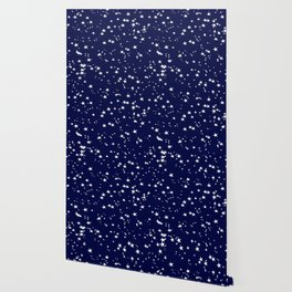 Moonlight Blue Stars Wallpaper