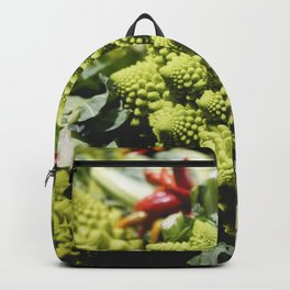 Romanesco broccoli in a grocery store Backpack