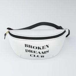 Broken Dreams Club - Black on White Fanny Pack
