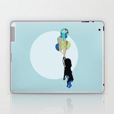 Little Girl With Balloons Laptop & iPad Skin