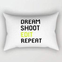 Dream Shoot Edit Repeat Film School Rectangular Pillow