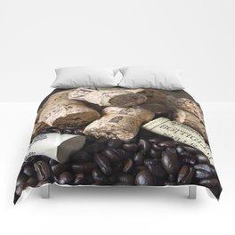 COFFEE CHAMPAGNE CORK Comforters