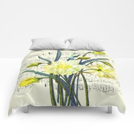 Daffodil Spring Song Comforters