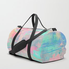 Totem Cabin Abstract - Pastel Duffle Bag