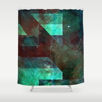 rothko Shower Curtains featuring Emerald Nebulæ  by Aaron Carberry