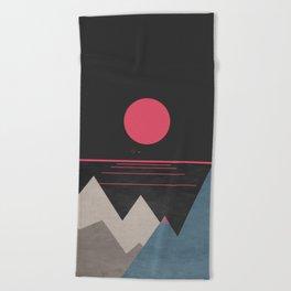 Minimal Sunset 10 Beach Towel