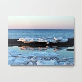 Ice Reflected Metal Print