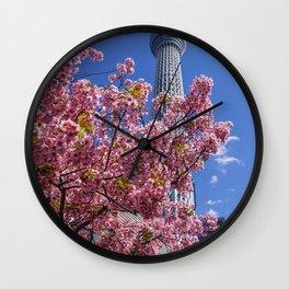 Skytree Sakuras, Tokyo Japan Wall Clock