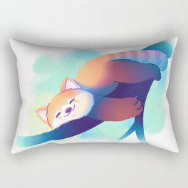 Dreaming Red Panda Rectangular Pillow