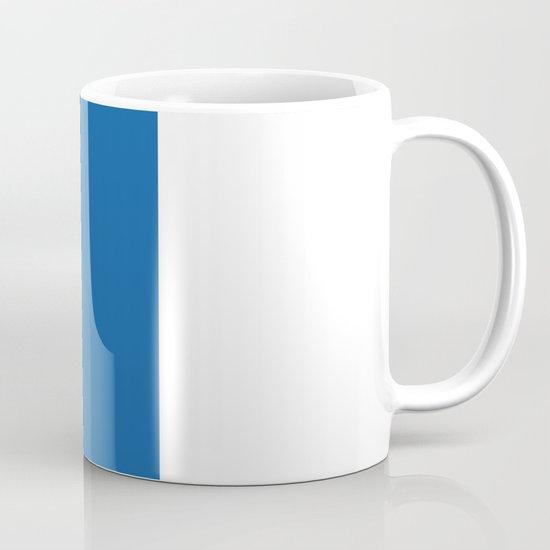 Banana Sticker On Blue Mug