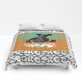 Carefree Black Girl Comforters
