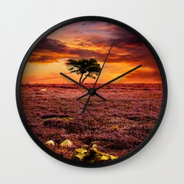 Egton Moor Sunset Wall Clock