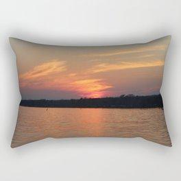 Sunset Over Lake Waccamaw 4 Rectangular Pillow