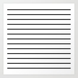 Minimalist Stripes Art Print