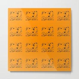 Pumpkin pattern for Halloween Metal Print