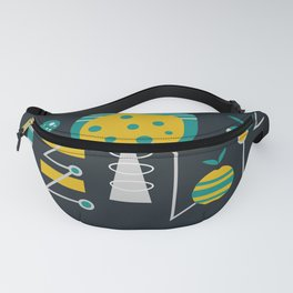 Mid-century carrots, apples and trees Fanny Pack