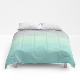 purple and blue polygon Comforters