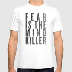 FEAR IS THE MINDKILLER White MEDIUM Mens Fitted Tee