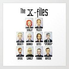 X FILES Art Print