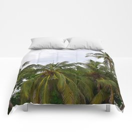 Palm Trees in the Sky Comforters