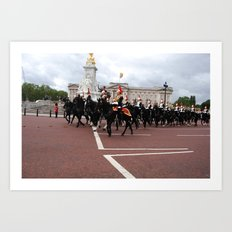 The Guards with their Horses 29 Art Print