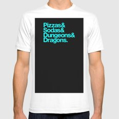 Dungeons & Dragons & Swag Mens Fitted Tee MEDIUM White