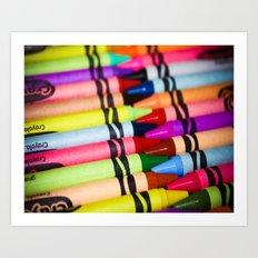 Rainbow of Crayons Art Print