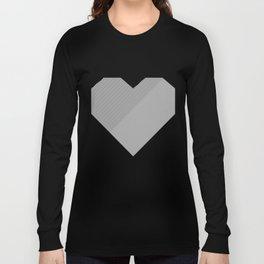heart / black & white / Long Sleeve T-shirt