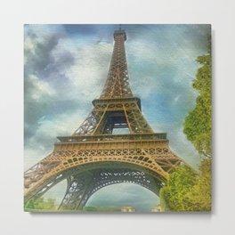 Eiffel Tower - La Tour Eiffel Metal Print