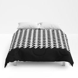 Dog(Tales)'s Tooth Medium (Black Background) Comforters