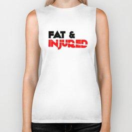 Fat & Injured (Black) Biker Tank