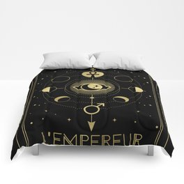 L'Empereur or The Imperator Tarot Gold Comforters