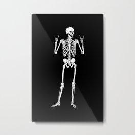 Metal and Rock and Roll Skeleton Metal Print