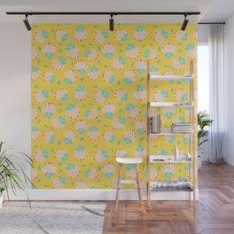 Blush Bloom Peony Lemon Wall Mural