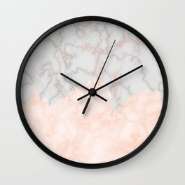Rosette Marble Wall Clock